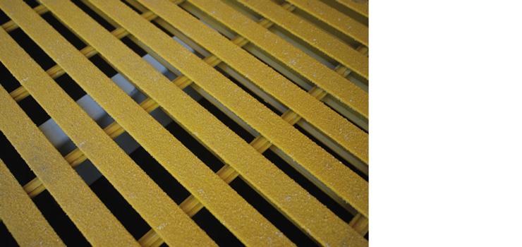 Fiberglass Grate Flooring with Sump Liner