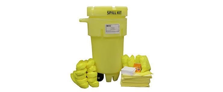 Wheeled 50-Gallon Hazmat Spill Kit